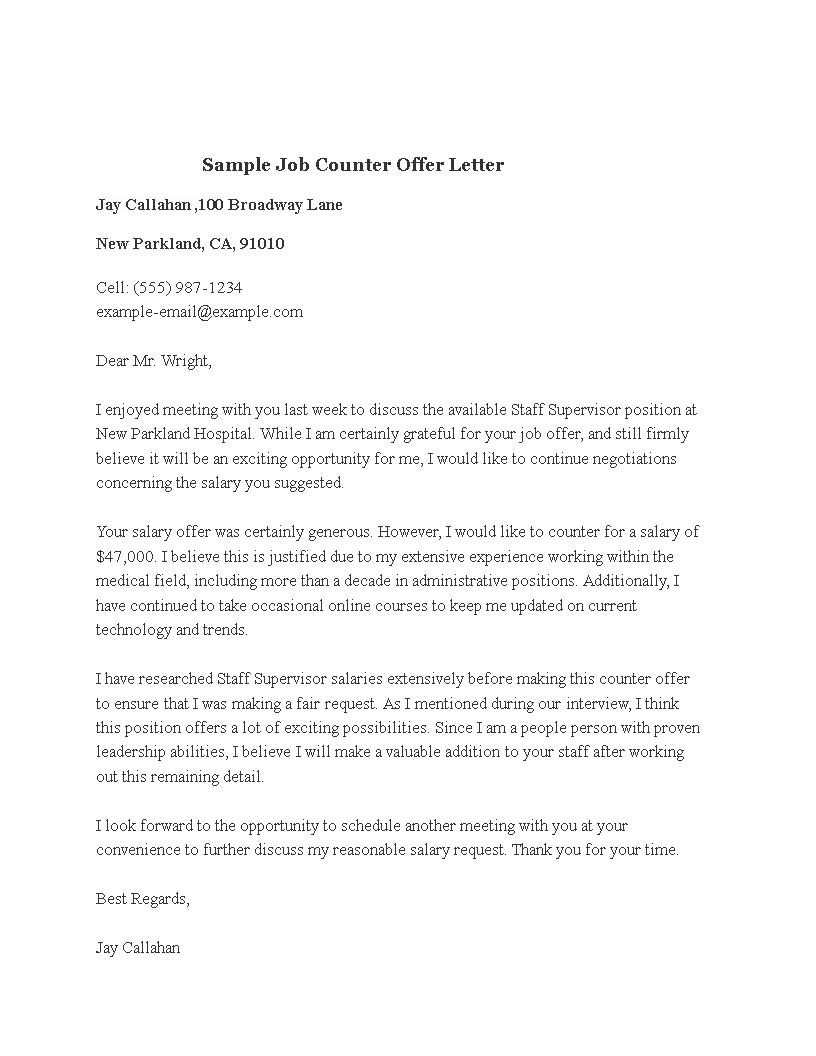 Sample Job Counter Offer Letter How To Make A Sample Job Counter Offer Letter Download This Sample Job Counter Offer L Letter Templates Lettering Job Letter