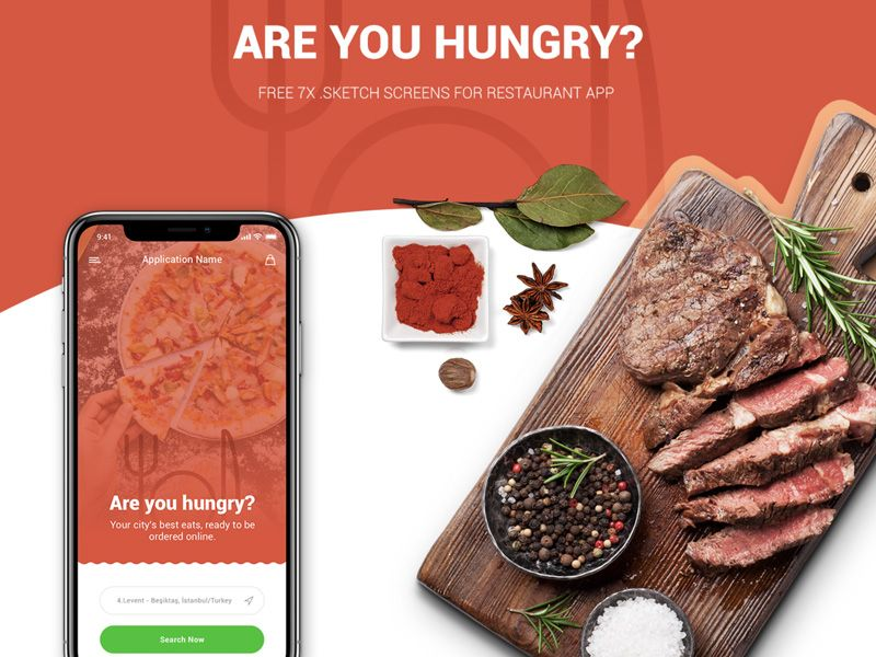 With Online Food Ordering Apps Becoming The Norm This Free Sketch