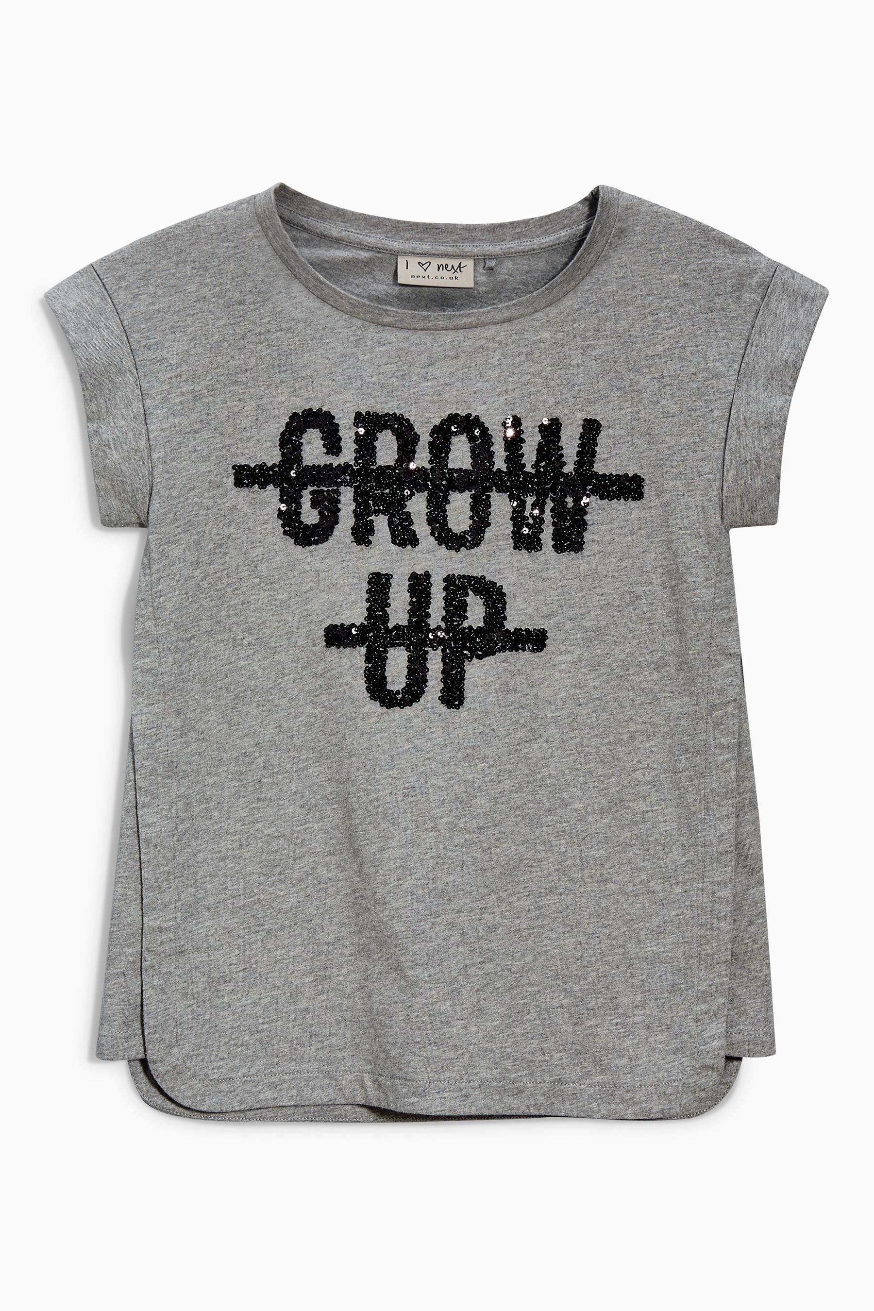89a74521 Buy Grow Up Slogan T-Shirt (3-16yrs) from the Next UK online shop ...