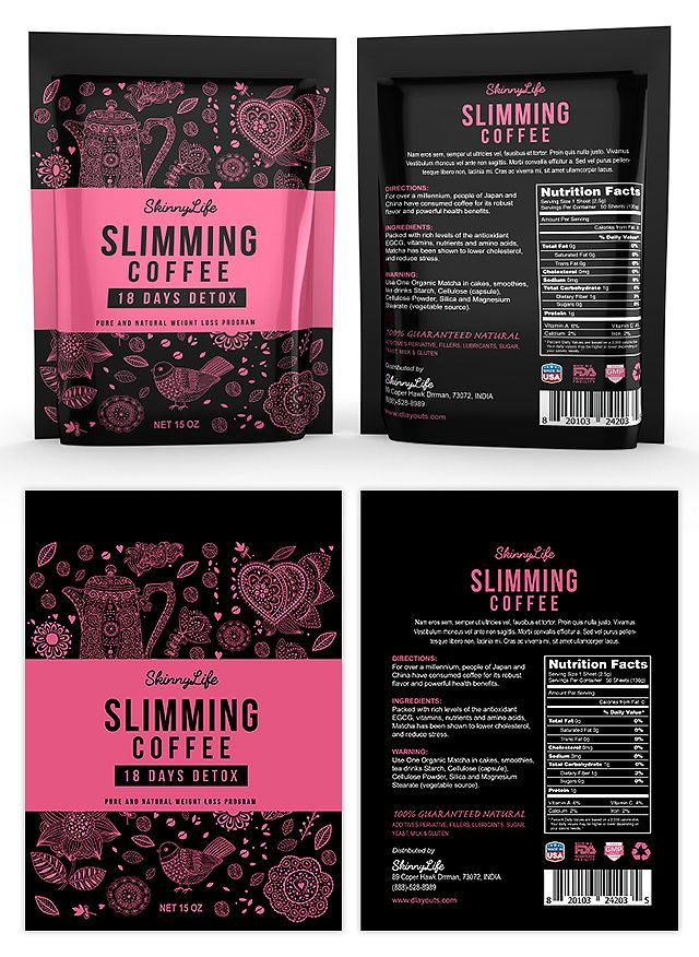 slimming coffee label template graphic design label packaging