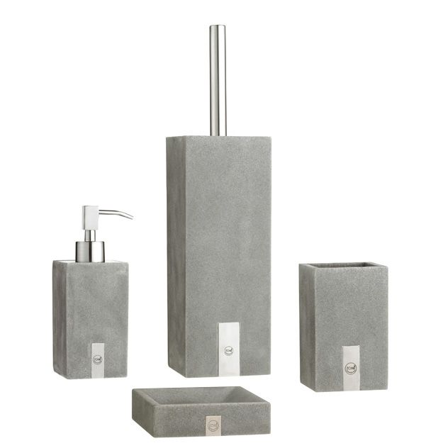 Soap Dish Concrete Grey Containers Dispensers And Utilities - Bathroom utilities