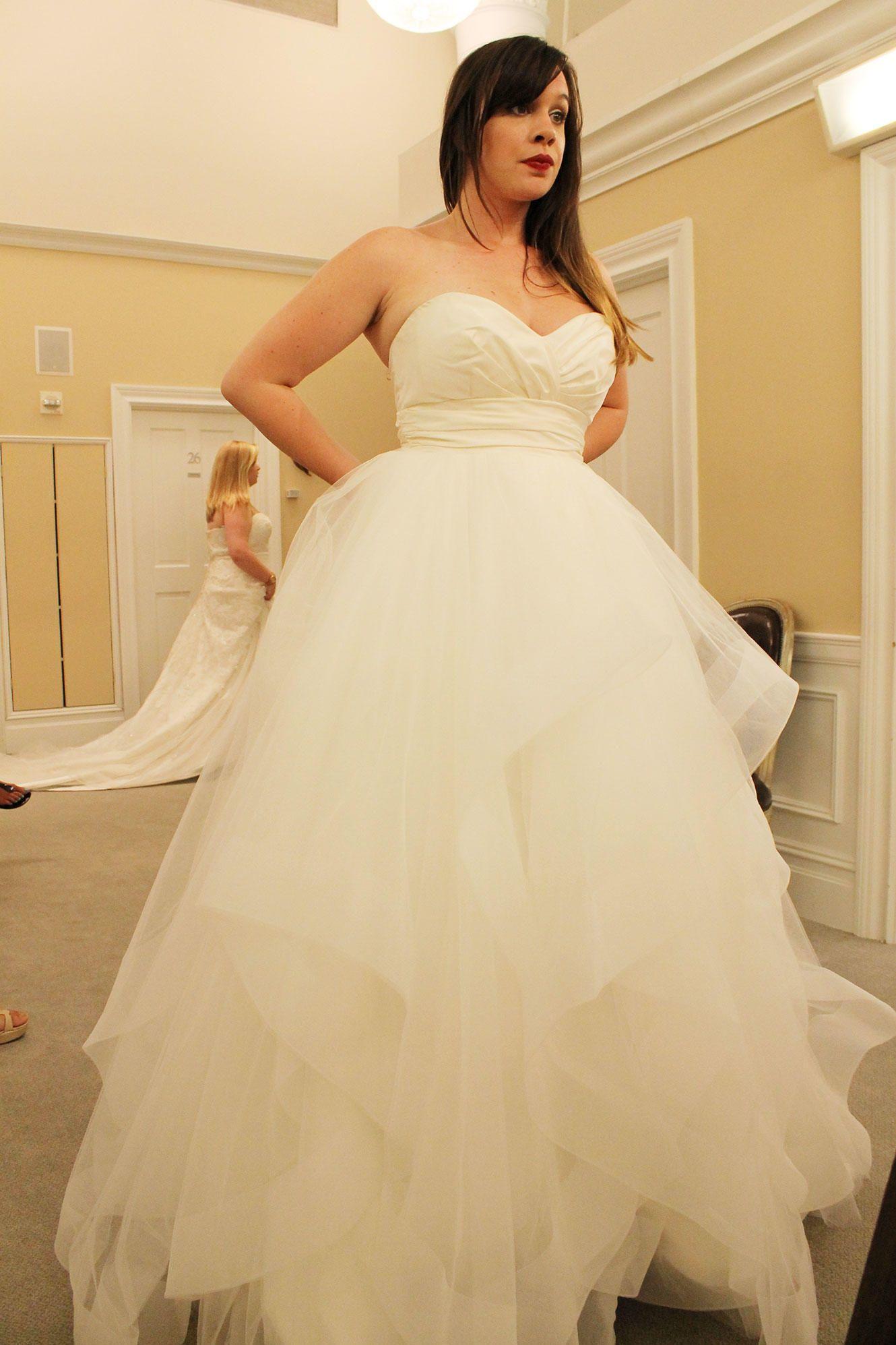 Lazaro Blush Wedding Dress Say Yes To The Dress