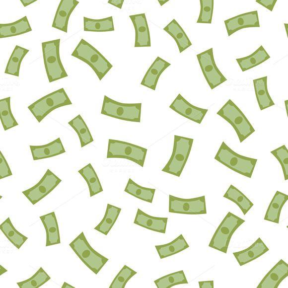 Falling Money Graphic Design Pattern Money Background Graphic Patterns