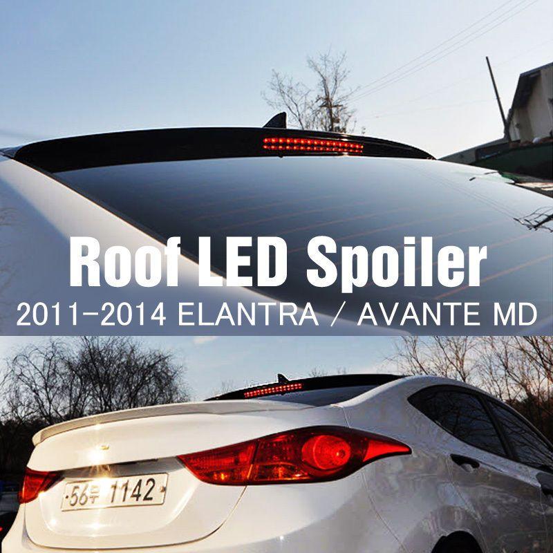 Rear Roof Led Lip Spoiler Garnish Molding Black For Hyundai 2011 2016 Elantra Md Ebay Elantra Hyundai Hyundai Elantra