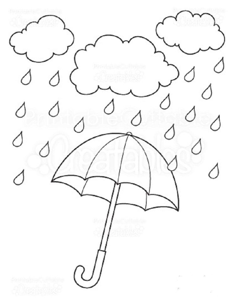 Umbrella Coloring Pages Rain Umbrella Coloring Page Free Printable Coloring Pages Free Printable Coloring