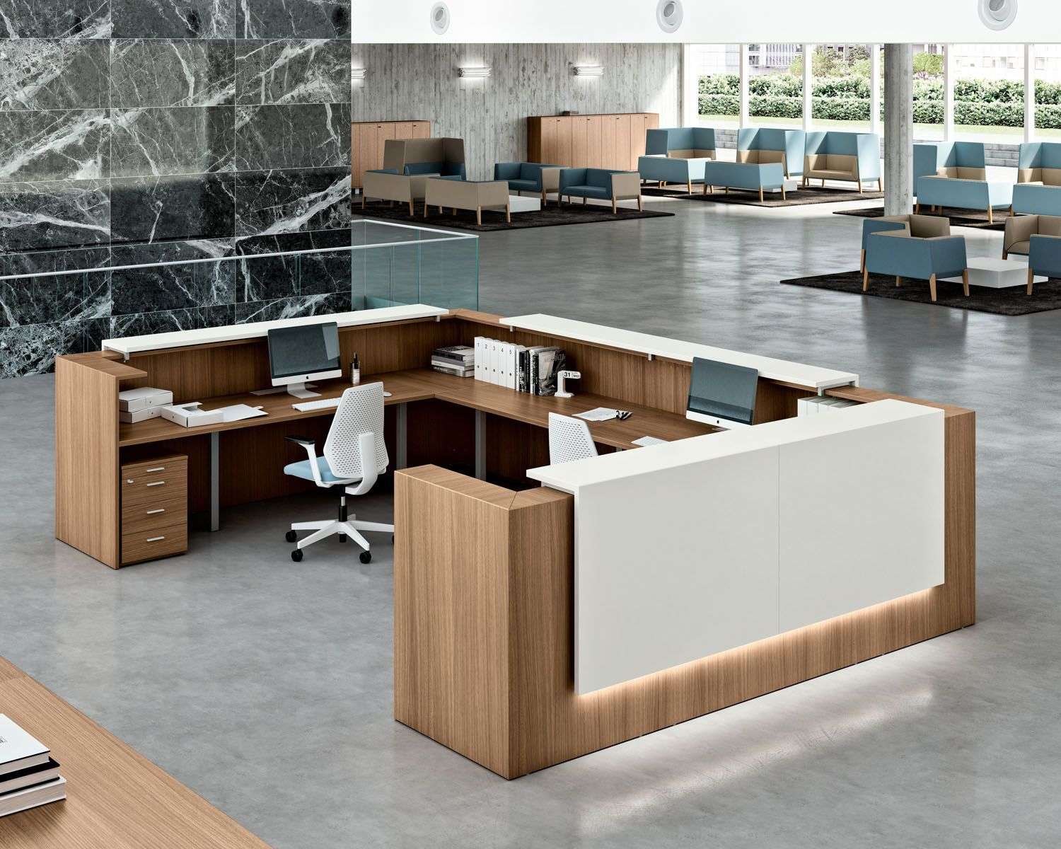 Here S How The Internet Of Things Will Influence Your Office Design Modern Office Modern Reception Desk Contemporary Office Furniture Modern Office Reception