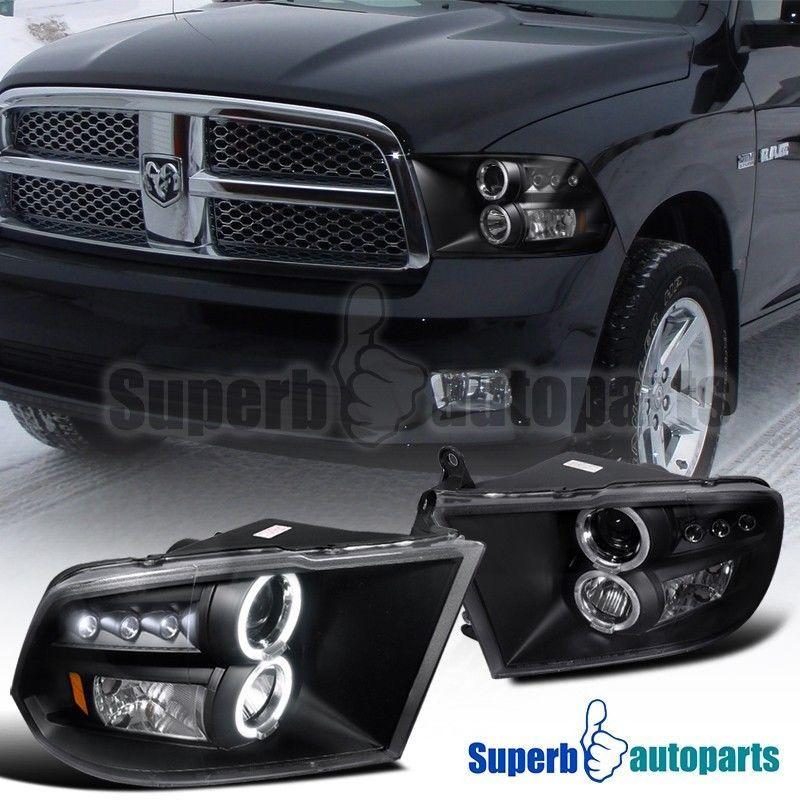 Specdtuning Demo Video X3a 2009 2016 Dodge Ram Dual Halo Led Projector Headlights High Quality Black Hou Dodge Ram 1500 Dodge Ram 1500 Accessories Dodge Ram
