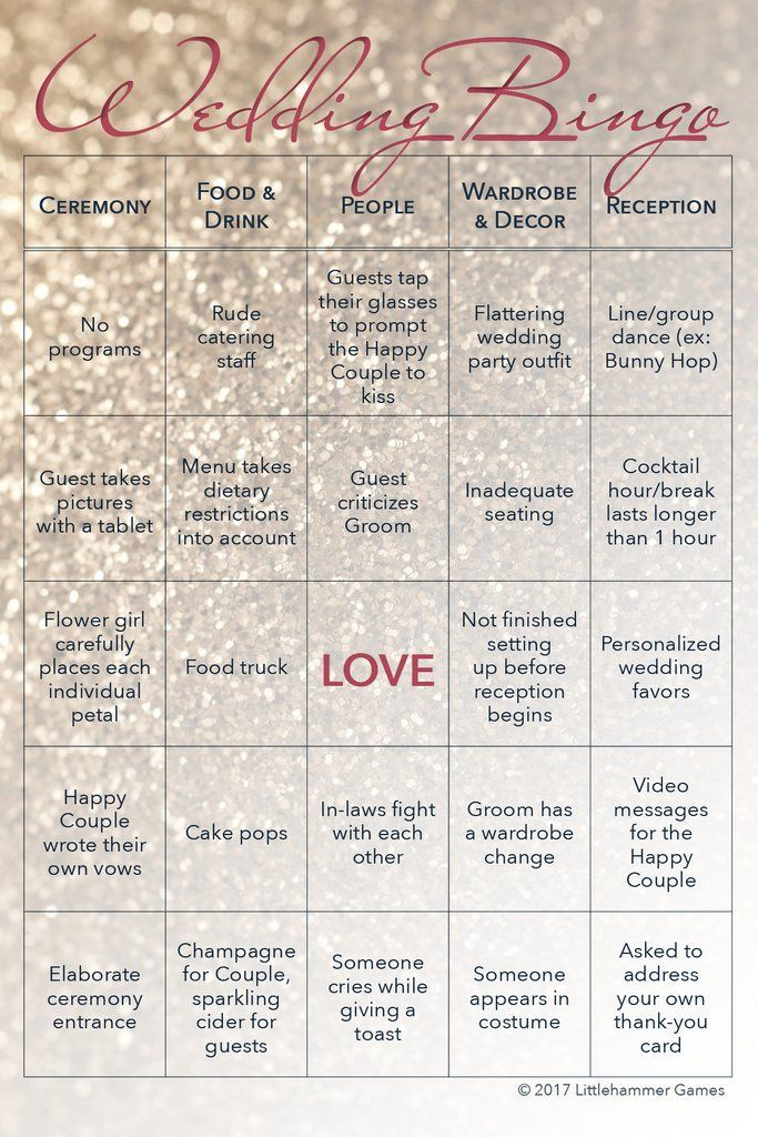 Wedding Bingo 2 Grooms Edition 75 Card Printed Set With Gold