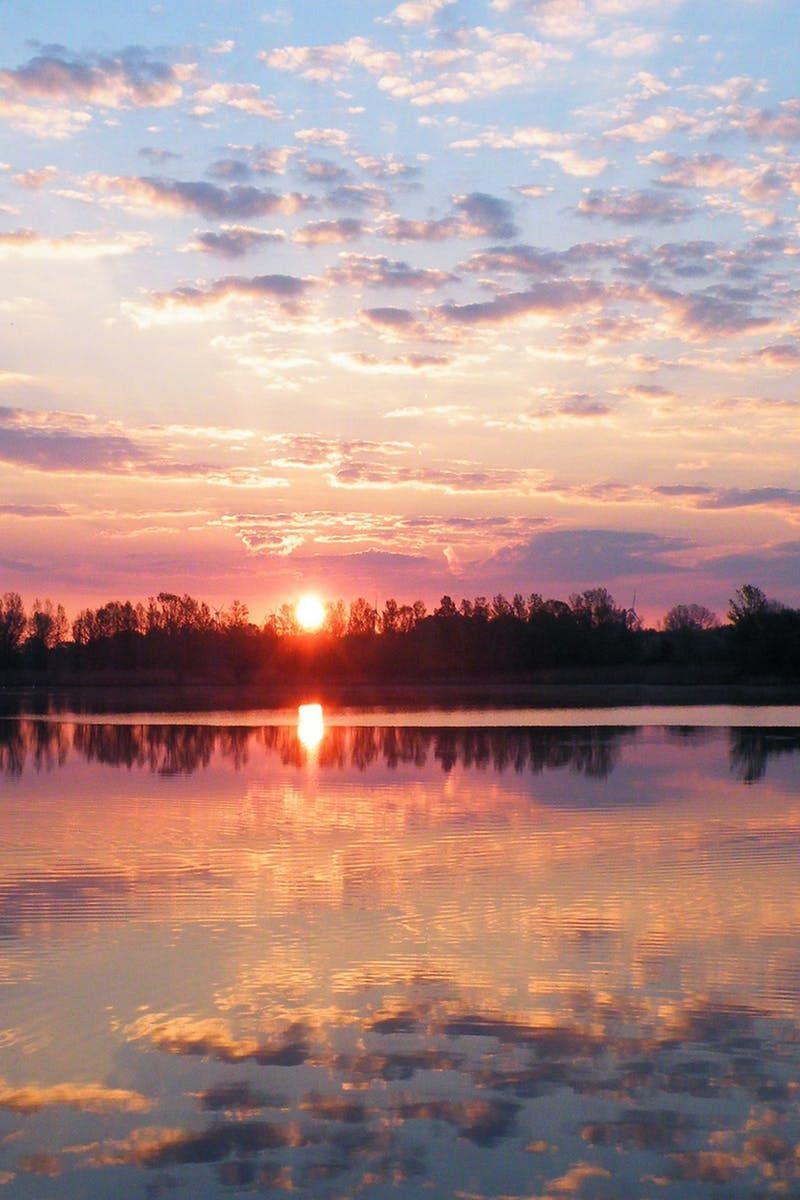 dawn, dusk, lake