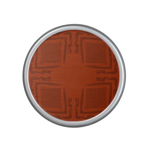 See The Forest Abstract Art Orange Speaker