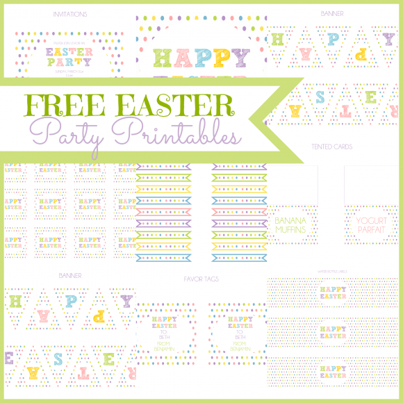 Free Easter Party Printables In 2021 Easter Party Printable Easter Party Easter Printables Free