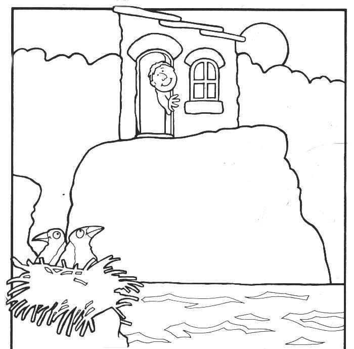 Bijbelse Kleurplaten Huis Op De Rots.Het Huis Op De Rots 6 Bij De Bijbel Nt Kleuren Pinterest