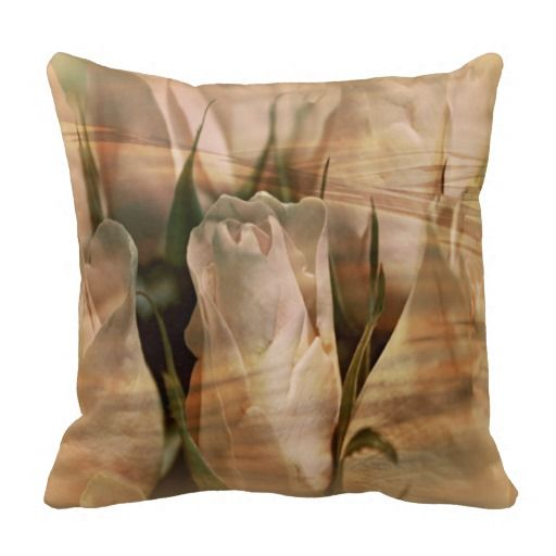 Vintage Water Rose Abstract Pillow