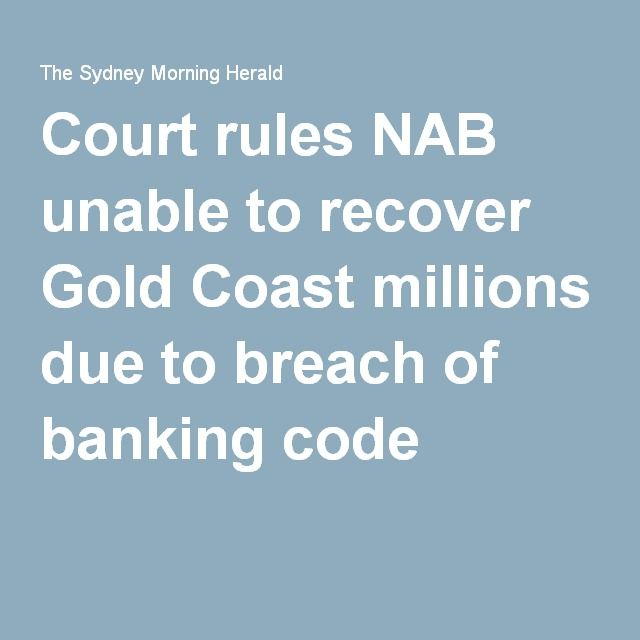 Court Rules Nab Unable To Recover Gold Coast Millions Due To