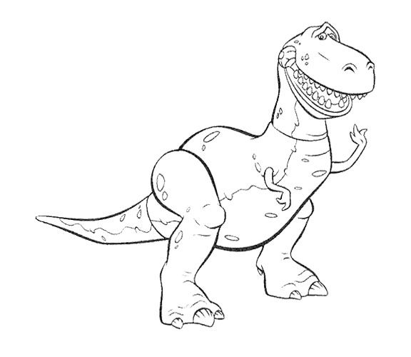Toy Story Rex The Widening Mouth Coloring Page Toy Story