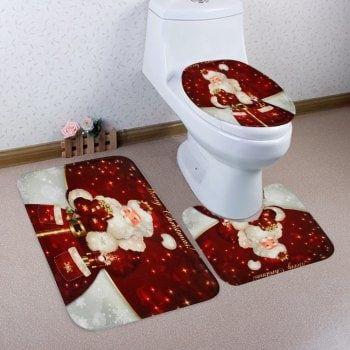 Gotd Christmas Decoration Christmas Snowman Lid Single Toilet Cover Toilet Seat Cover