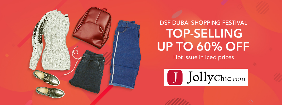 DSF Dubai Shopping Festival Top-Selling Up Tp 60% Off On #JollyChic  #Clothing #Shopping #Dresses #Discount