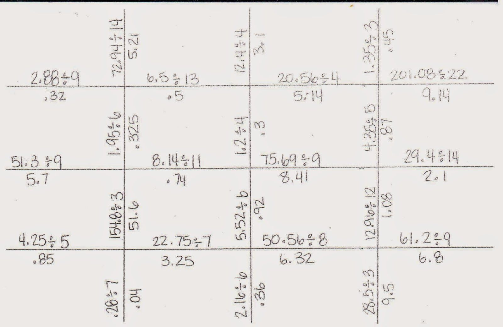 Steps Dividing Decimals Worksheet