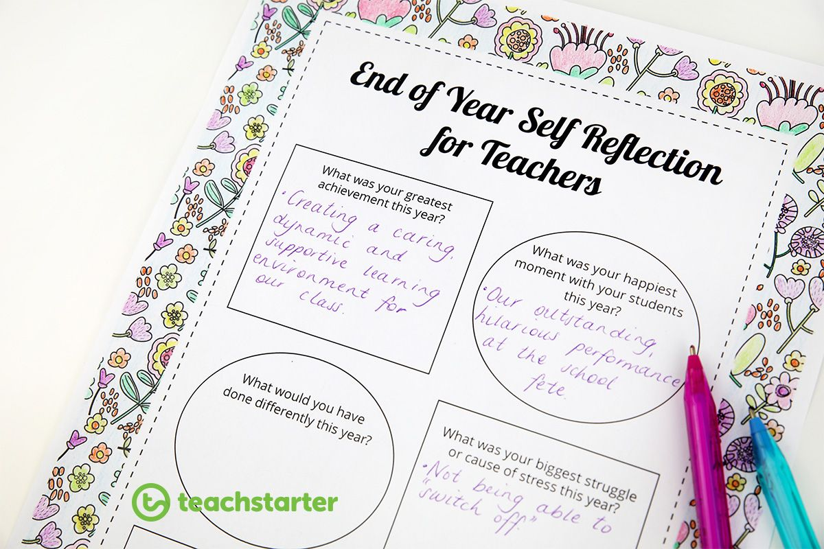 A Free Mindful Self Reflection For Teachers