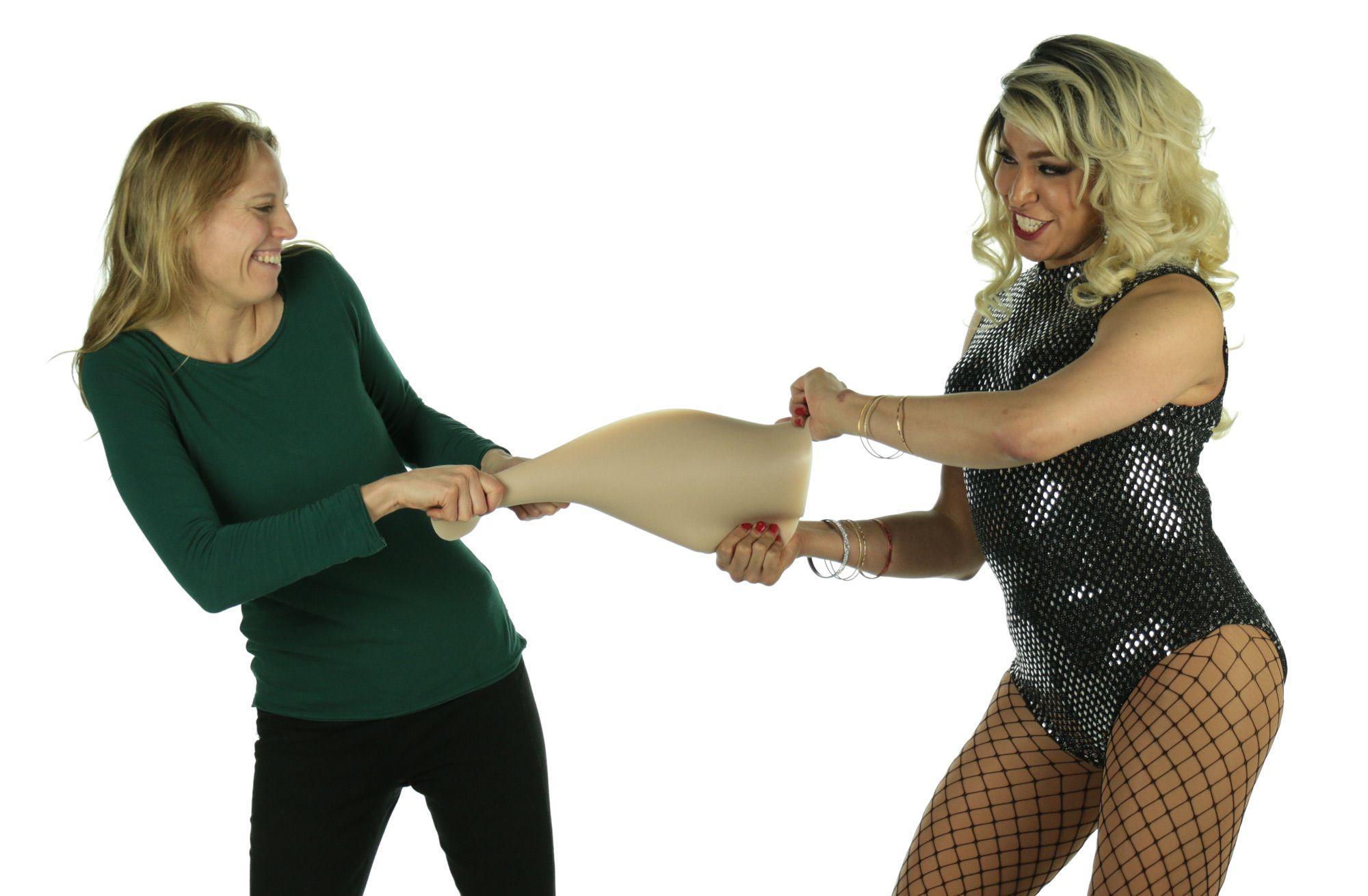 Transvestite clothing bumper padding
