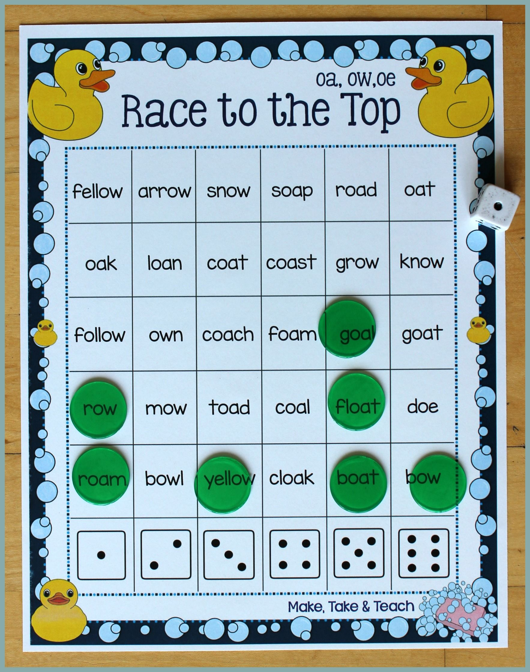 Activities for Teaching the oa/ow/oe Digraphs | Kind