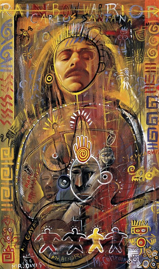 Some beautiful art of Carlos Santana.