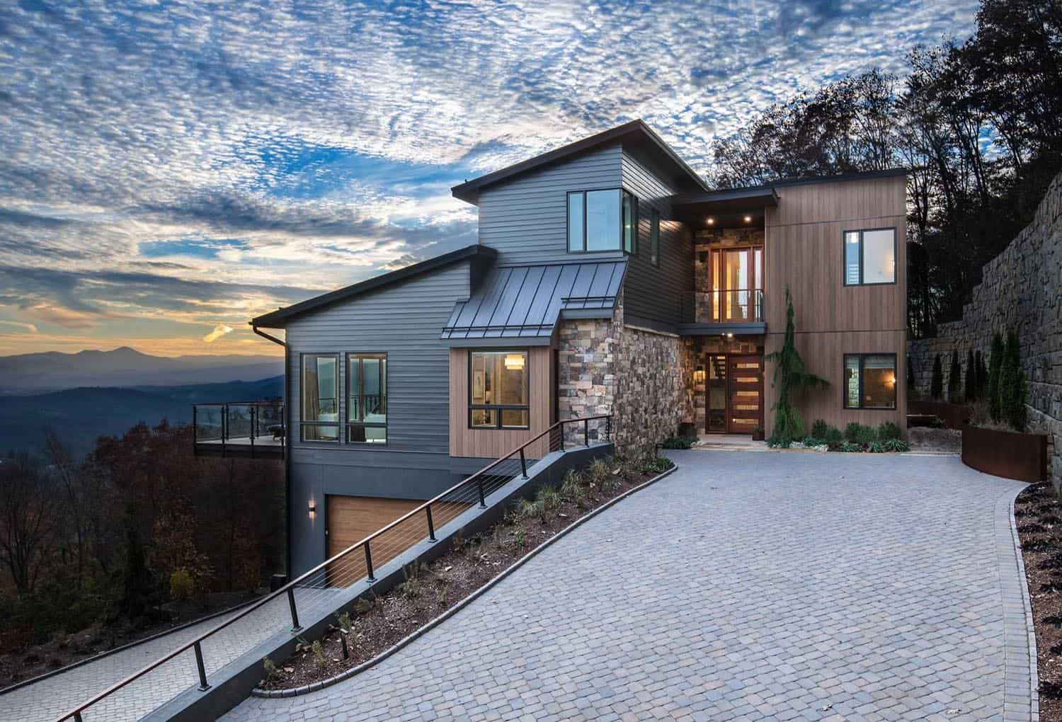 Beautifully Inspiring Mountain Home Nestled In The Blue Ridge Mountains In 2020 Building Design Contemporary House Exterior House Exterior