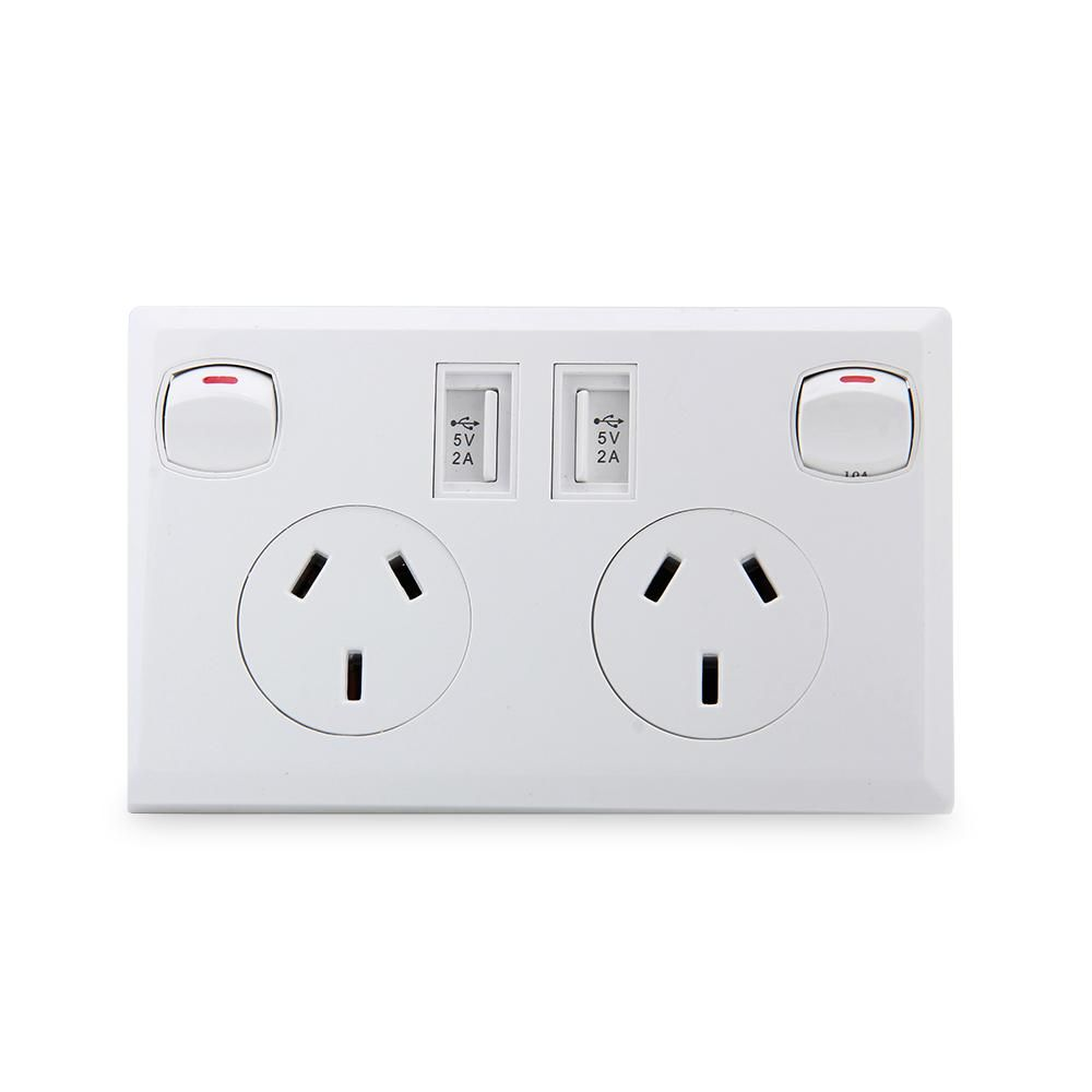 USB Wall Socket AU Wall Socket USB Charger AU Plug Switch AC Power ...