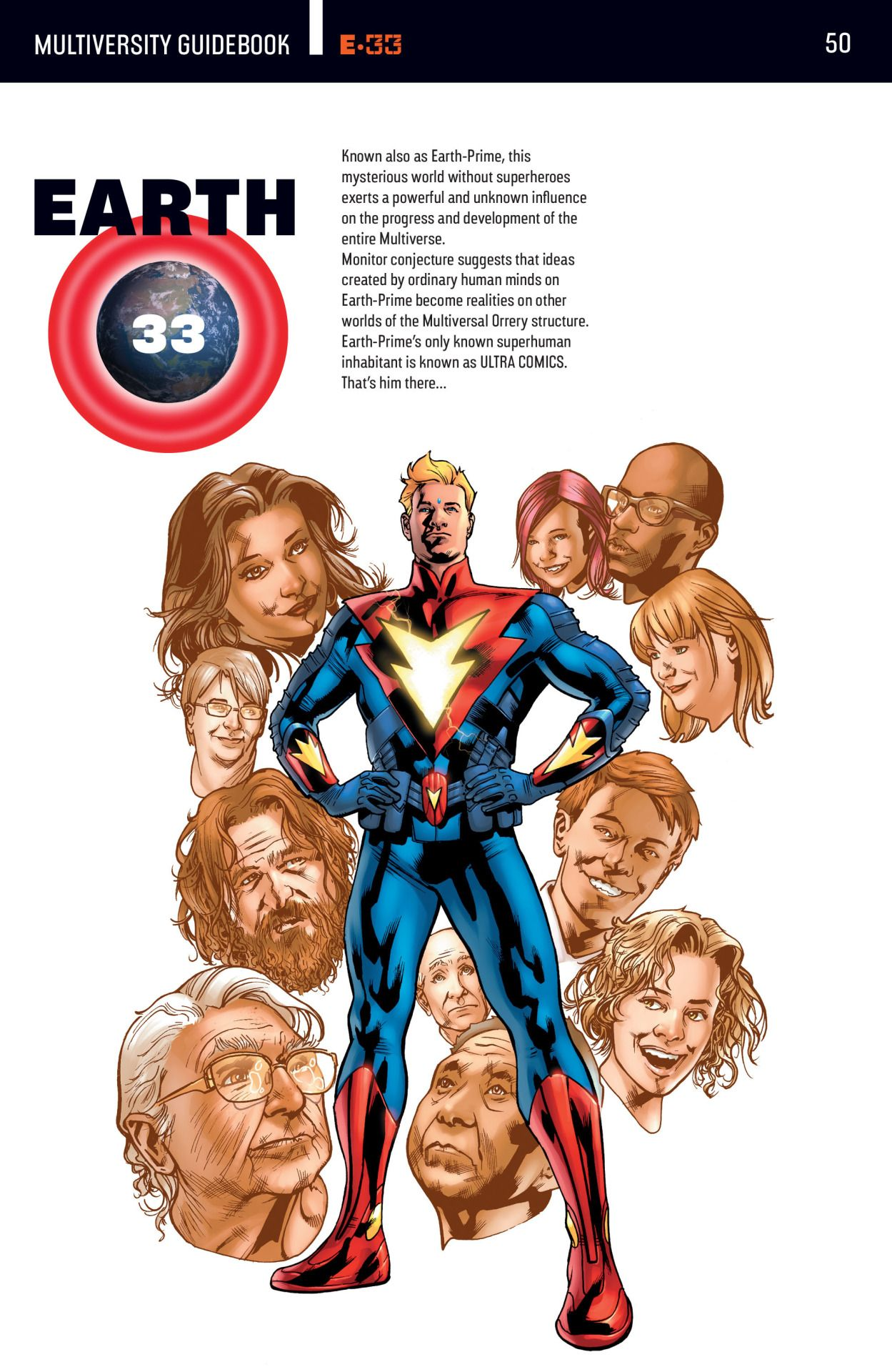 Earth 33 Known As Earth Prime This Mysterious World Without Superheroes Exerts A Powerful And Unknown Influence Superhero Comic Dc Comics Characters Superhero