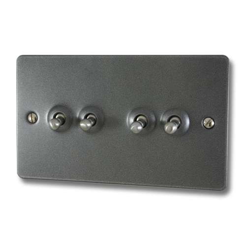 Flat Pewter Toggle Switch 4 Gang Pewter Flats Stuff To Buy