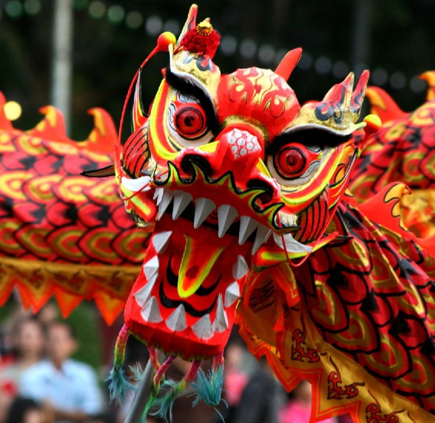 Chinese New Year Dragon Chinese New Year Greeting And Feeding The Dragon Thailand Chinesenew Chinese New Year Dragon Chinese Mask Chinese New Year Greeting