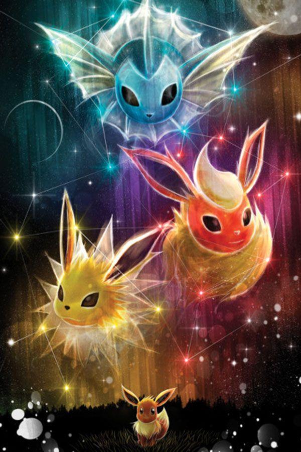 44 Eevee Evolutions Metal Poster Pokemon Eevee Evolutions Pokemon Eevee Pokemon Eeveelutions