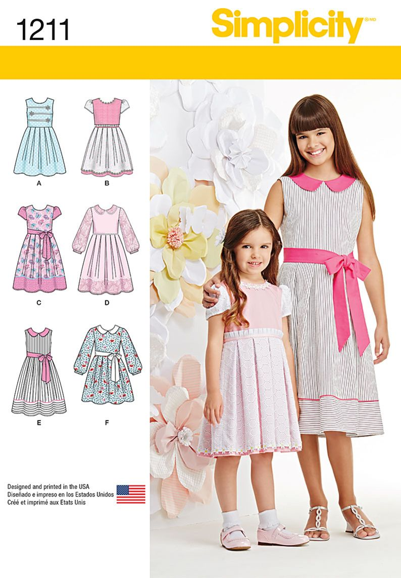 Simplicity creative group childs and girls dress in two simplicity creative group childs and girls dress in two lengths jeuxipadfo Choice Image