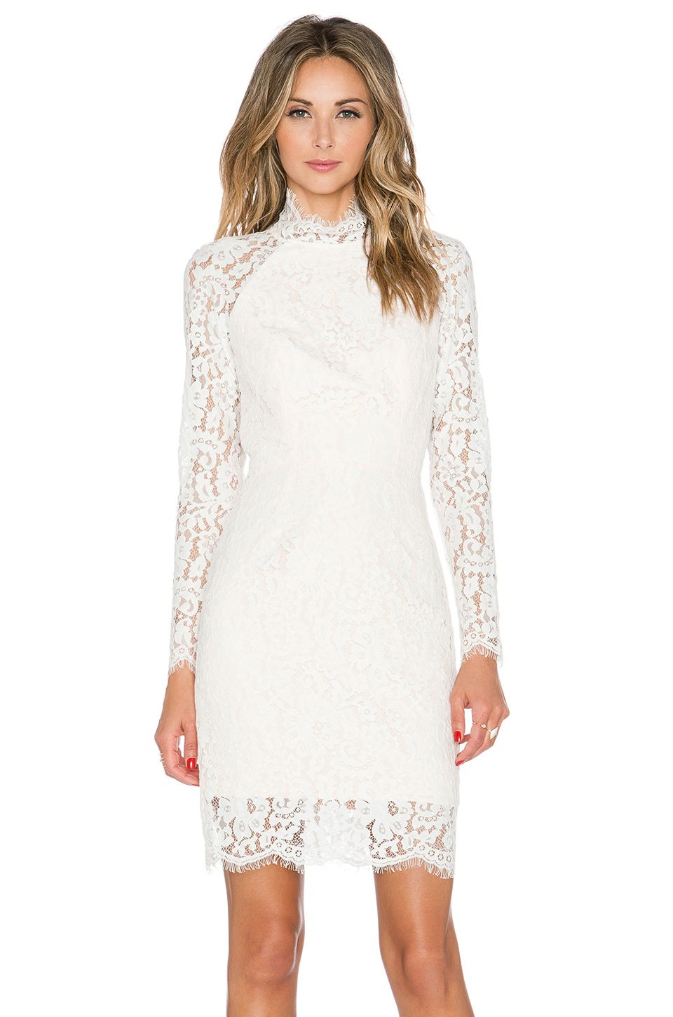 One night long sleeve lace dress ivory pinterest lace dress