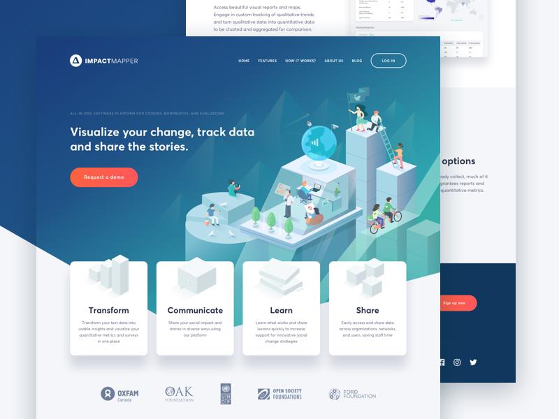 Impact Mapper Landing Page Landing Page Webpage Design Web Design