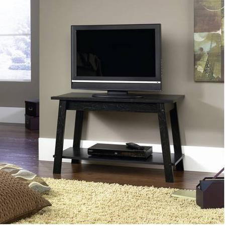 Mainstays Tv Stand Black Oak Finish Walmart Com Tv Stand