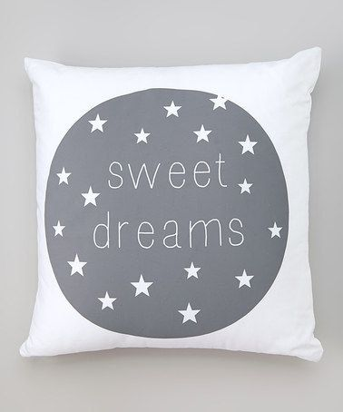 Sweet Dreams Pillow, Modern Kids Pillow, Kids Decor by madebydrawstring on Etsy https://www.etsy.com/listing/200317977/sweet-dreams-pillow-modern-kids-pillow