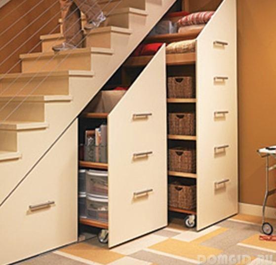 Шкаф под лестницей фото идеи своими руками