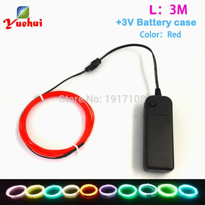 1Meter 6pieces multicolor 1.3mm electroluminescent wire light ...