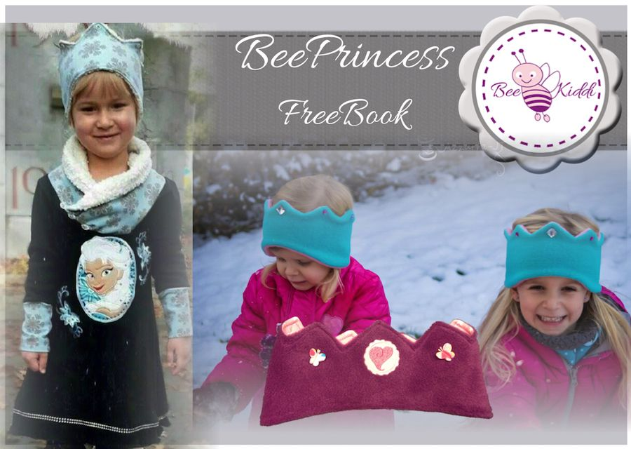 Freebook, Krone, Stirnband, Prinzessinn, Prinz Ku 48-54 | nähen ...