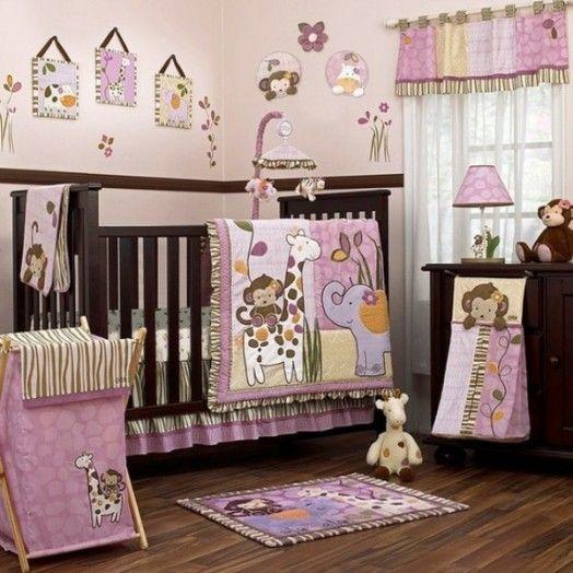 dcoration chambre enfant sur les thmes de safari et jungle - Chambre Jungle Fille