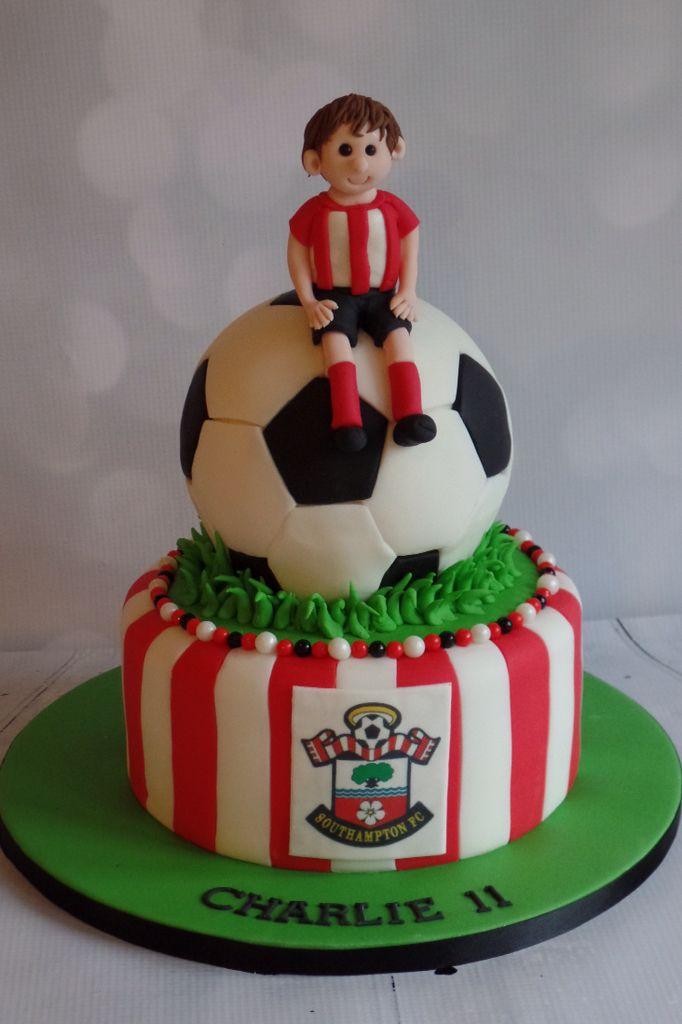 Southampton football club cake | Football birthday cake ...