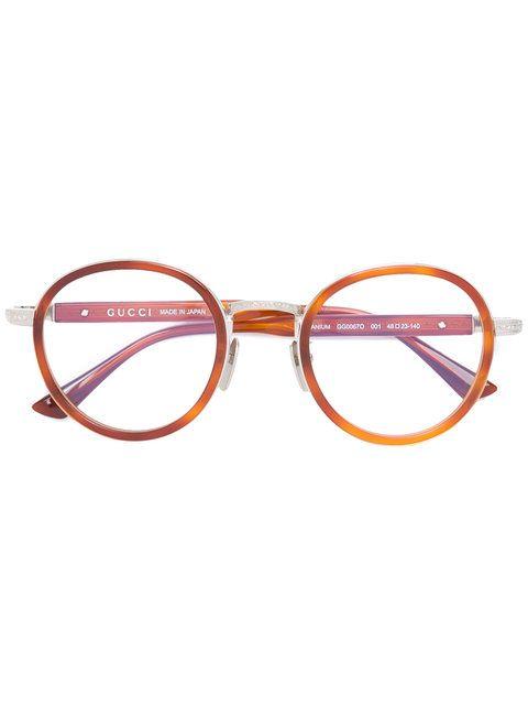 a1e82b1d313ef2 Achetez Gucci Eyewear lunettes de vue à monture ronde.   Accessory ...