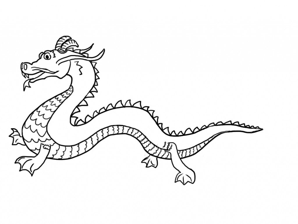Chinese Dragon Coloring Pages Printable | school | Pinterest