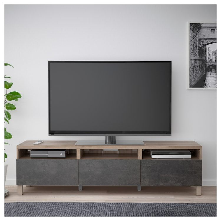 Ikea Besta Tv Unit With Drawers Tv Bench Tv Unit Ikea