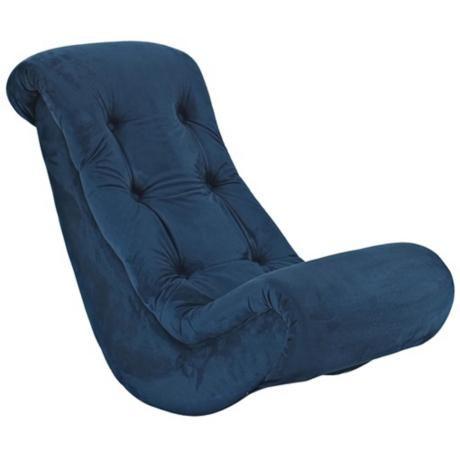 Navy Blue Kids Banana Rocker Chair