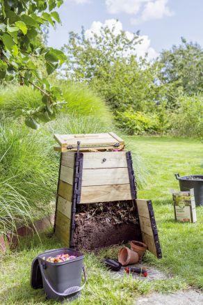 jardiland composteur en bois 150l