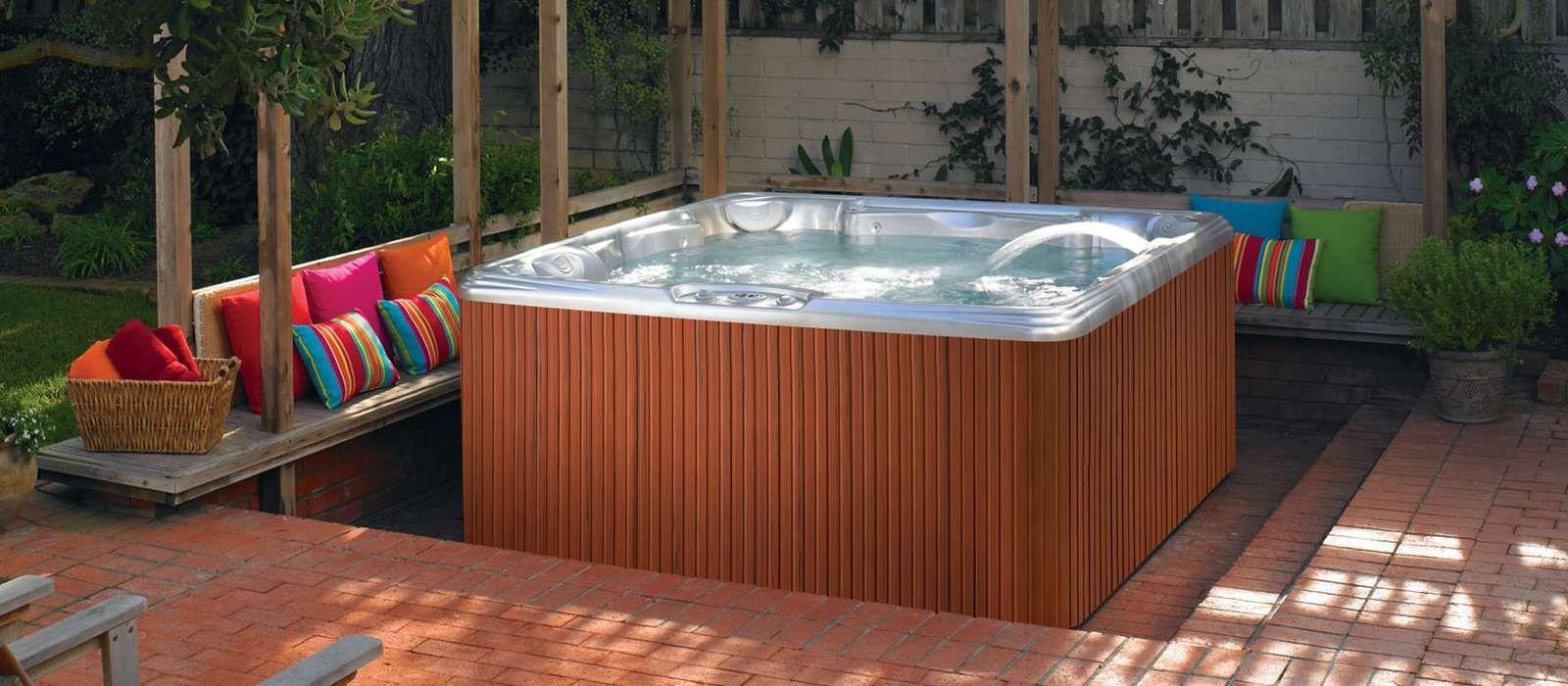 Patio Hot Tub Ideas - Backyard Hardscape - Hot Tub Designs