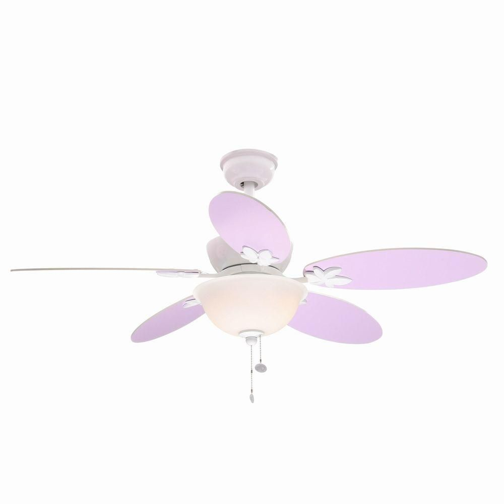 Hampton Bay Harper Iii 44 In Indoor White Ceiling Fan With Light Kit Am214 Wh With Images