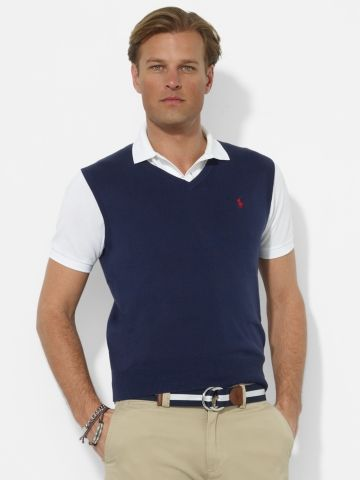 83828518 Pima Cotton V-Neck Vest - Polo Ralph Lauren V-Neck - RalphLauren.com ...